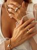 Pierścionek złoty z przezroczystymi kryształkami PRG0132 rozmiar 10