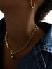 Naszyjnik złoty łańcuch  z perłami długi NRG0209 50 cm