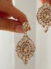Kolczyki kryształowe złote KSS0771
