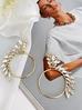 Kolczyki koła złote z transparentnymi kryształami KSS0810