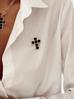 Naszyjnik czarny krzyż NU0003