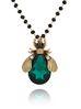 Naszyjnik zielony owad długi NMI0044