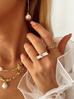 Naszyjnik złoty łańcuch  z perłą  NRG0147