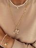Naszyjnik z perłami i muszlą  NLB0005