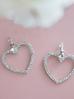 Kolczyki srebrne serca z kryształkami KRG0547