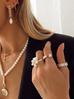 Pierścionek złoty z transparentnymi kryształami PRG0092 rozmiar12