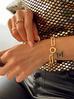 Pierścionek złoty z czarnymi kryształkami PRG0124 rozmiar 15