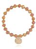Zestaw bransoletek brązowo musztardowy Blossom BBL0140
