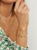 Bransoletka złota z dyskami ze stali szlachetnej BSA0058