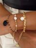 Bransoletka złota z perełkami  i łańcuszkiem BPE0023