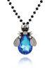 Naszyjnik niebieski owad długi NMI0045