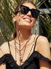 Łańcuszek do okularów czarno perłowy NPA0141
