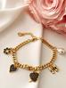 Bransoletka złota z charmsami BRG0172