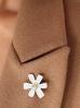 Broszka biały kwiat BRLI0008