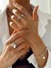 Bransoletka srebrny łańcuch z perłą BRG0127