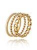 Zestaw pierścionków  ze stali szlachetnej PSA0131 Rozmiar 15