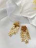 Kolczyki złote wiszące liście KRG0390