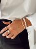 Pierścionek elastyczny z perełek PPE0010