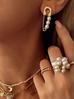 Pierścionek złoty z perłami PPE0004 uniwersalny