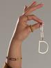 Zawieszka ze stali szlachetnej złota literka D Alphabet NAT0051