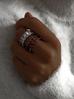 Pierścionek złoty z przezroczystymi kryształkami PRG0095  rozmiar 17