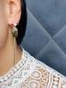 Kolczyki złote gołębie z perłą i cyrkonią KNE0012