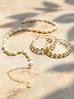 Kolczyki złote koła z perłami KPE0029