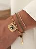 Bransoletka złota z zielonym okiem BRG0208