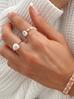 Pierścionek elastyczny z perełek POV0011