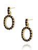 Kolczyki złote z kryształkami literka O KRG0601