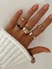 Pierścionek złoty z kryształkami PRG0107 rozmiar 12