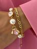 Bransoletka z perłami i owadem BMI0043