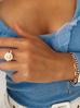 Bransoletka złota z perełkami i owadem  BMI0025