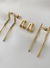 Kolczyki złote patyczki ze stali szlachetnej KSA0080
