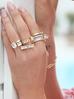 Pierścionek złoty z kryształkami PRG0129 rozmiar 18