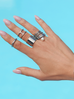 Pierścionek srebrny ze stali szlachetnej PSA0032 Rozmiar 15