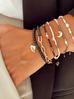 Bransoletka z ceramiki i łańcucha złota BLB0106