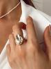 Pierścionek złoty z perłą PPE0007