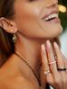 """Kolczyki złote """"jajka Faberge"""" z czarnymi kryształkami KRG0501"""