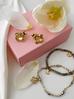 Kolczyki złote żuki z cytrynowymi kryształkami KMI0128