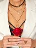 Naszyjnik różaniec z czarnymi kryształkami NOA0048