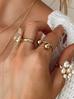 Pierścionek złoty ze stali szlachetnej z kulkami PSA0101 rozmiar 20