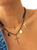 Naszyjnik z krzyżykami i monetkami NRG0236