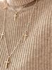 Naszyjnik z krzyżykiem i perełkami NRG0133