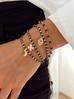 Bransoletka z czarnym onyksem- ręka Fatimy BSC0694