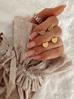 Kolczyki złote serca ze stali szlachetnej KSA0088