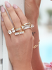 Pierścionek złoty z przezroczystymi kryształkami PRG0130 rozmiar 17