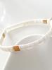 Bransoletka elastyczna kremowa BLB0004