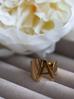 Pierścionek złoty ze stali szlachetnej z literką A PSA0044