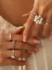 Pierścionek złoty z transparentnymi kryształkami PRG0185 rozmiar 20